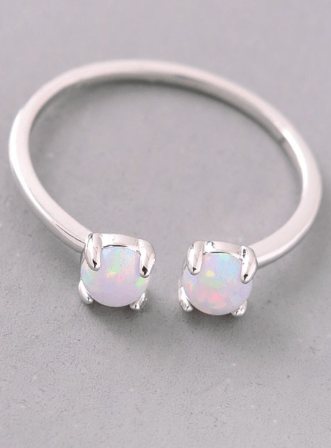 Double Opal Stone Ring