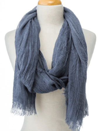 Lightweight Frayed Edge Scarf