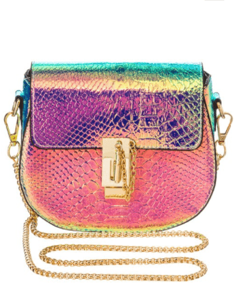 Iridescent Crossbody Structured Bag