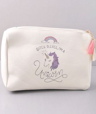 B*tch Please, I'm a Unicorn Cosmetic Bag Pouch