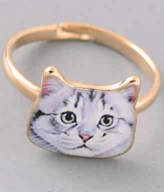 Cat Ring - White