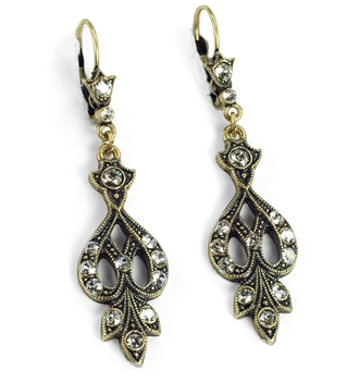 Art Deco Vintage Arabesque Silver Earrings