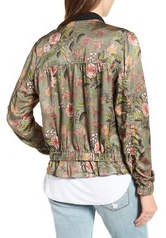 BLANKNYC Sun Chaser Floral Bomber Jacket