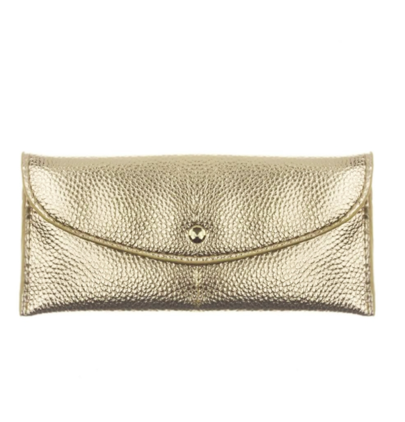 Flap Over Envelope Wallet - Gold