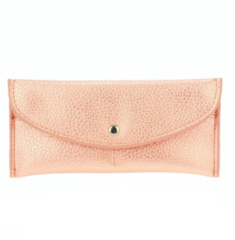 Flap Over Envelope Wallet - Rose Gold