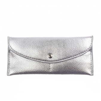 Flap Over Envelope Wallet - Silver