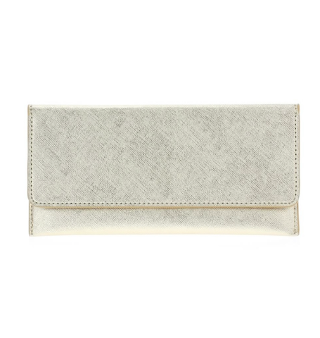 Saffiano Wallet - Gold