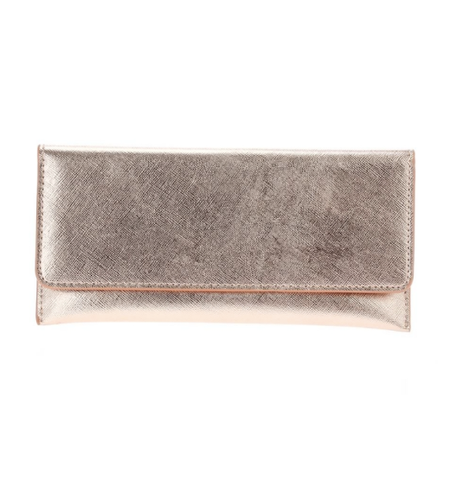 Saffiano Wallet - Rose Gold