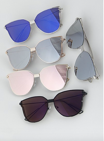 H&D Cat Eye Multi Color Sunglasses
