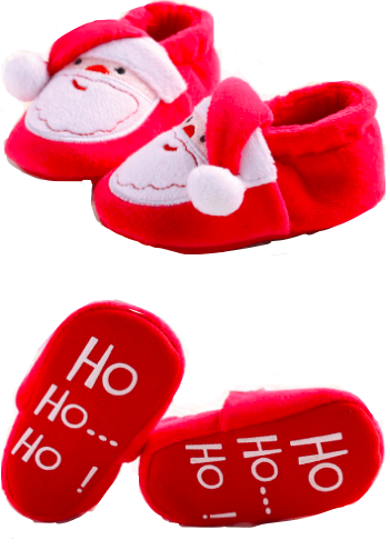 Ho! Ho! Ho! Santa Infant Booties