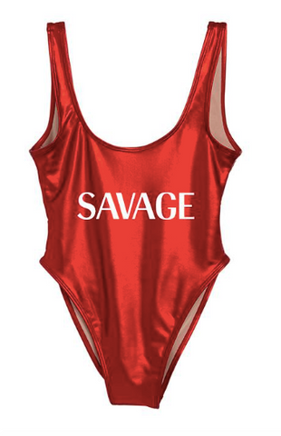 PRIVATE PARTY Savage One-Piece Swimsuit
