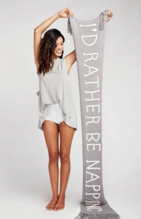 "WILDFOX COUTURE ""I'd Rather Be Napping"" Scarf"