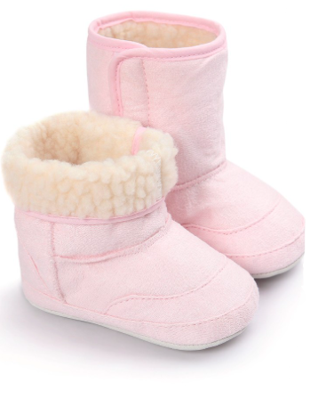 INNOCENSE Faux Fur Baby Booties