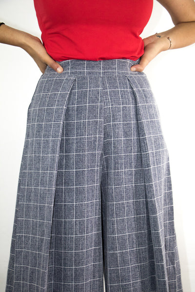 Woven Print Culottes