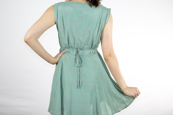 Light Green Pattern Dress