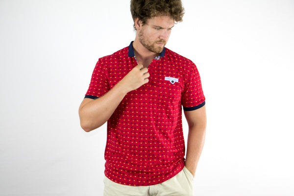 Pointed Floral Polo