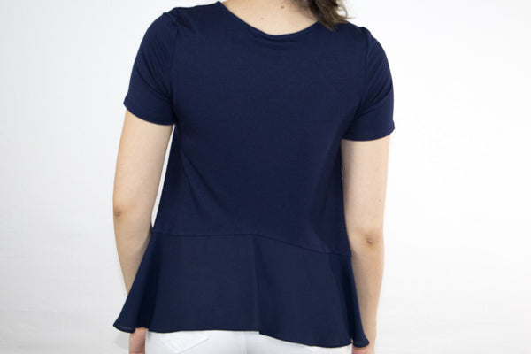 Self-Tie Neckline Top