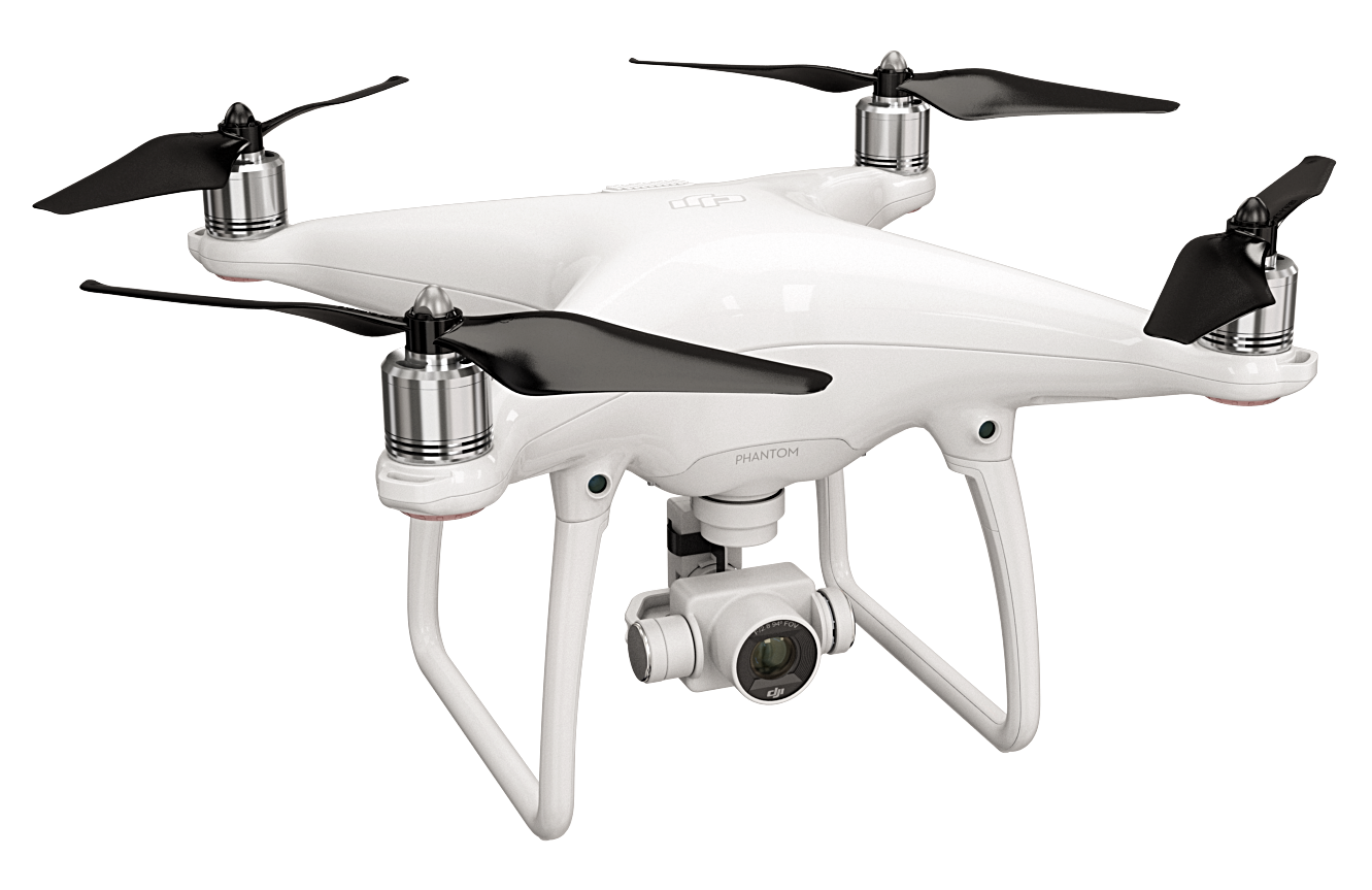 DJI Phantom with Built-In Nut Propellers