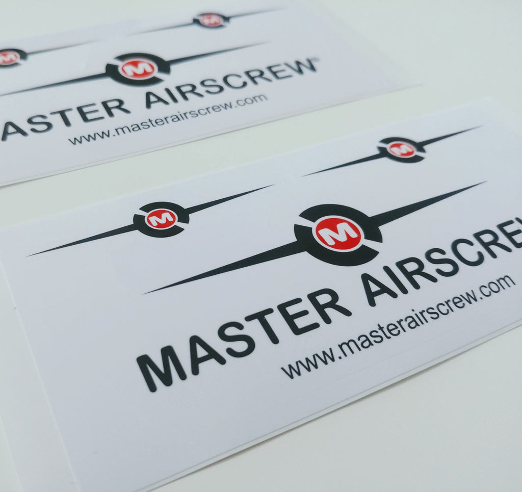 MAS Premium Stickers x2 - Master Airscrew - Multi Rotor/ Model Airplane Propellers