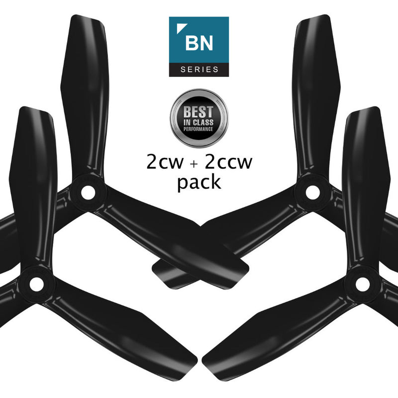 BN-3blade-FPV - 5x4.5 Prop Set x4 Black - Master Airscrew - Drone and Model Airplane Propellers