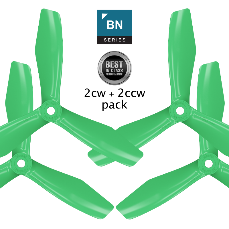 BN-3blade-FPV - 6x4.5 Prop Set x4 Green - Master Airscrew - Multi Rotor/ Model Airplane Propellers