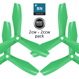 BN-3blade-FPV - 5x4.5 Prop Set x4 Green - Master Airscrew - Multi Rotor/ Model Airplane Propellers