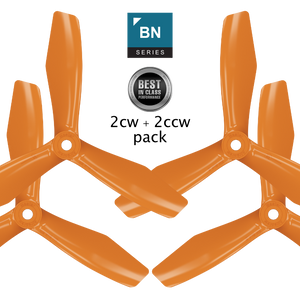 BN-3blade-FPV - 5x4.5 Prop Set x4 Orange - Master Airscrew - Multi Rotor/ Model Airplane Propellers