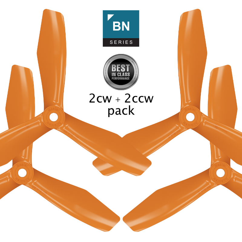 BN-3blade-FPV - 6x4.5 Prop Set x4 Orange - Master Airscrew - Multi Rotor/ Model Airplane Propellers