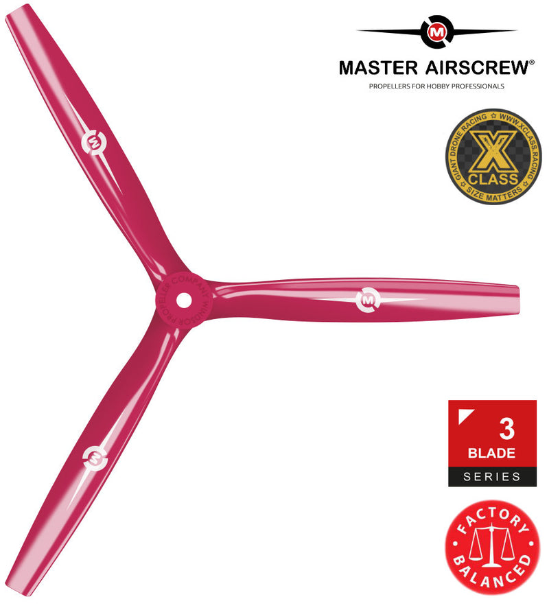 3-Blade - 13x12 Propeller Red - Master Airscrew - Drone and Model Airplane Propellers
