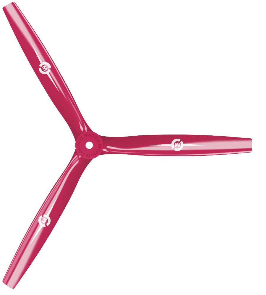 3-Blade - 13x12 Propeller Rev./Pusher Red - Master Airscrew - Drone and Model Airplane Propellers