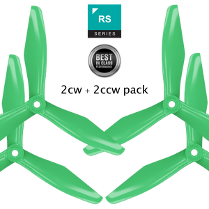 RS-3blade-FPV - 5x4.5 Prop Set x4 Green - Master Airscrew - Multi Rotor/ Model Airplane Propellers
