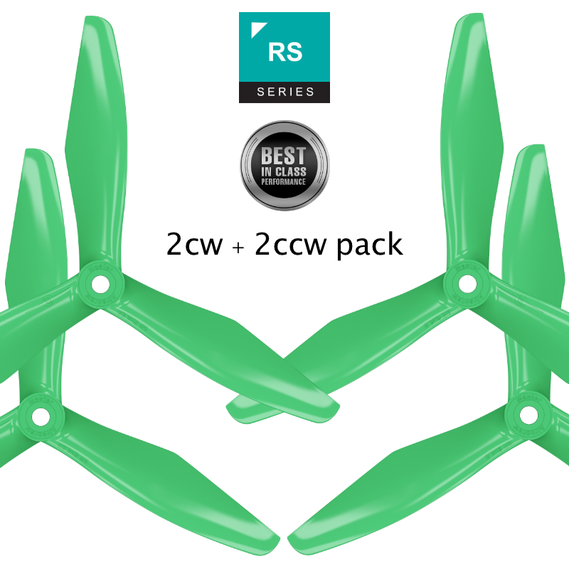 RS-3blade-FPV - 5x4.5 Prop Set x4 Green - Master Airscrew