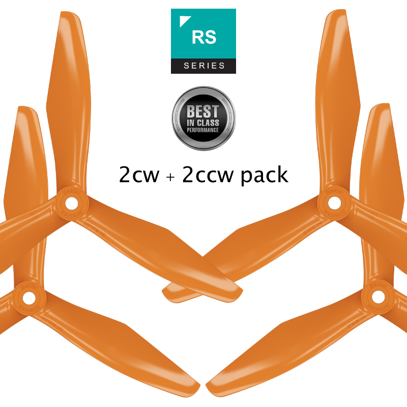 RS-3blade-FPV - 5x4.5 Prop Set x4 Orange - Master Airscrew