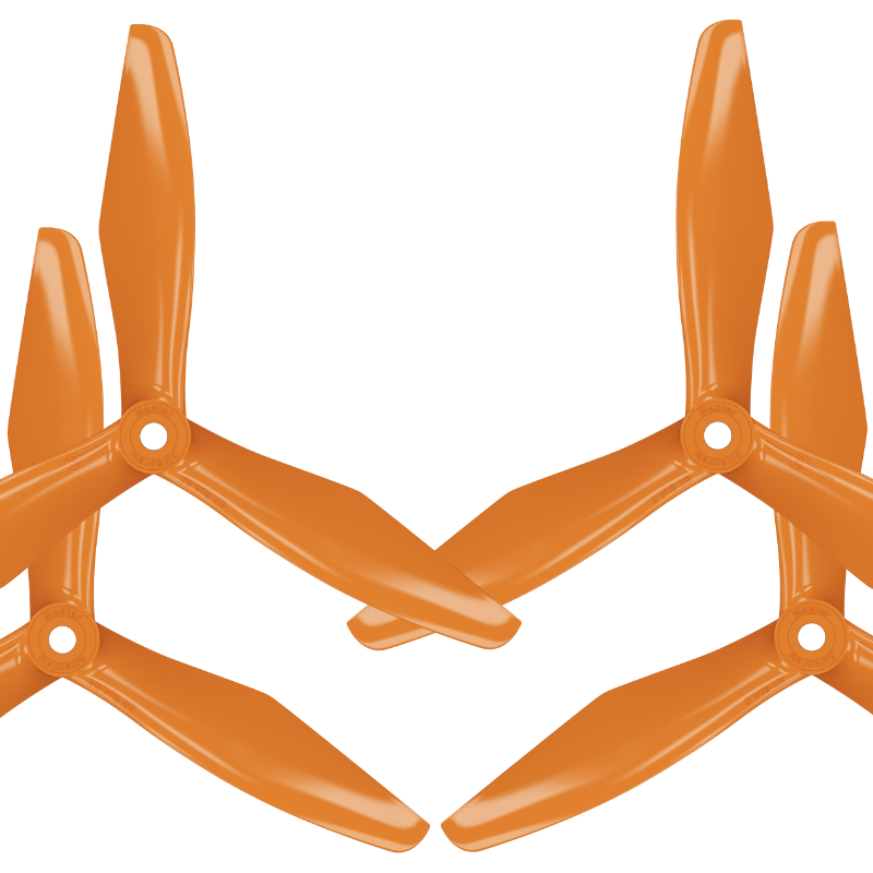 RS-3blade-FPV - 5x4.5 Prop Set x4 Orange - Master Airscrew - Multi Rotor/ Model Airplane Propellers