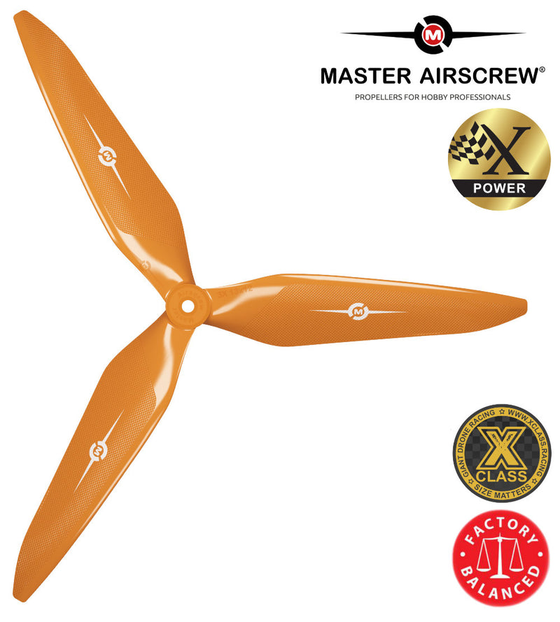 3X Power - 11x10 Propeller (CCW) Orange - Master Airscrew - Drone and Model Airplane Propellers