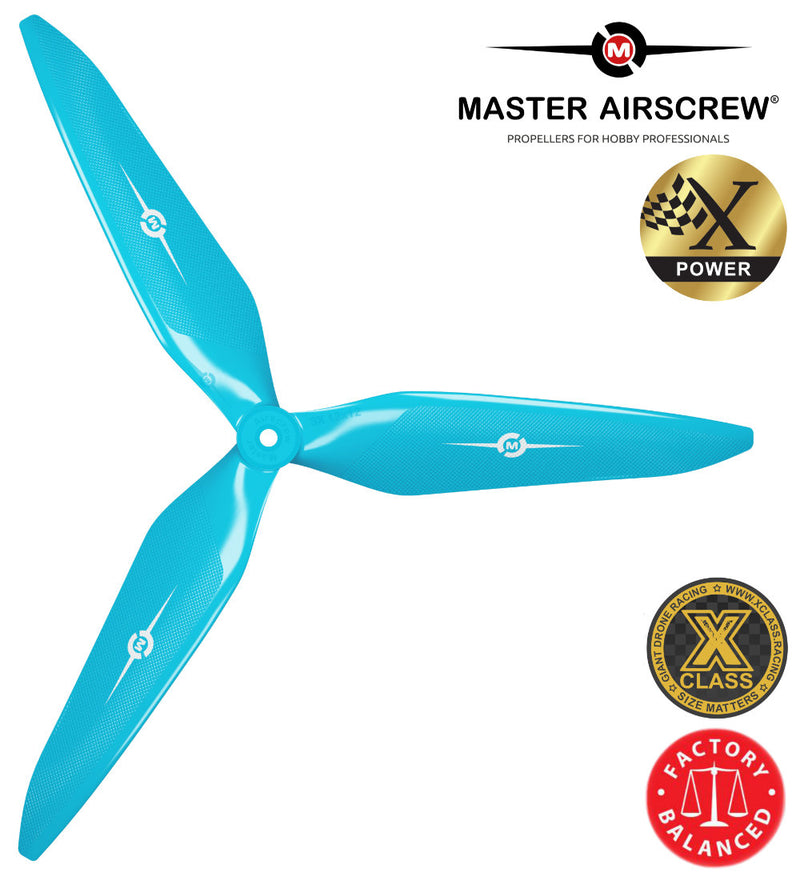 3X Power - 13x12 Propeller (CCW) Blue - Master Airscrew - Drone and Model Airplane Propellers