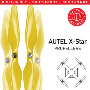 AUTEL X-Star Built-in Nut Upgrade Propellers - MR AU 9.4x5 Set x4 Yellow - Master Airscrew - Multi Rotor/ Model Airplane Propellers