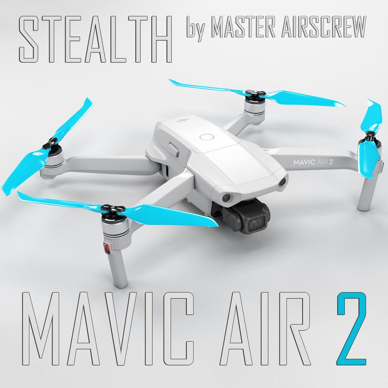 DJI Mavic Air 2 STEALTH Upgrade Propellers - x4 Blue - Master Airscrew - Drone and Model Airplane Propellers