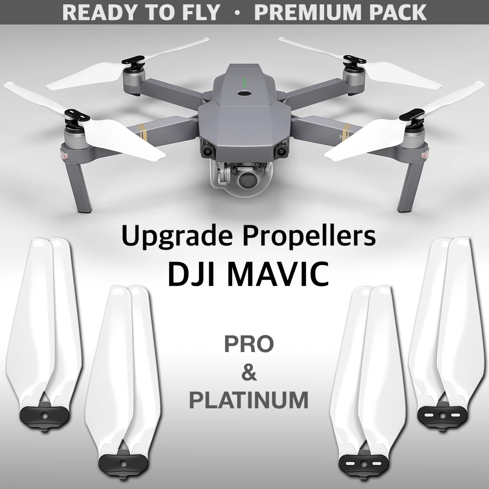 DJI Mavic Pro & Platinum STEALTH Upgrade Propellers - x4 White - Master Airscrew - Multi Rotor/ Model Airplane Propellers
