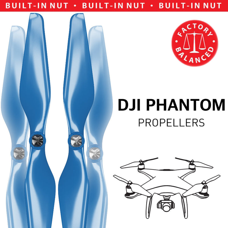 DJI Phantom 1-3 Upgrade Propellers - MR PH 9.4x5 Set x4 Blue - Master Airscrew - Drone and Model Airplane Propellers