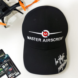 MAS Base Ball Hat Black - Master Airscrew - Multi Rotor/ Model Airplane Propellers