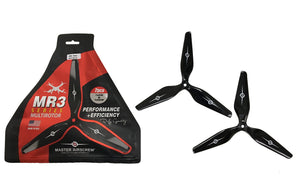MR Series - 3-Blade 9x4.5 Prop Set x2 Black - Master Airscrew - Multi Rotor/ Model Airplane Propellers