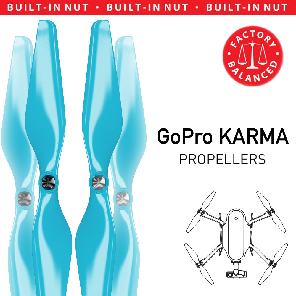 GoPro Karma Built-in Nut Upgrade Propellers - MR KR 10x4.5 Set x4 Aqua Blue - Master Airscrew - Multi Rotor/ Model Airplane Propellers