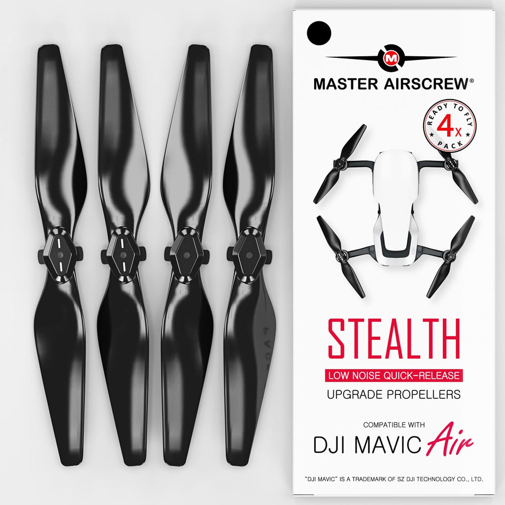 DJI Mavic Air STEALTH Upgrade Propellers - x4 Black - Master Airscrew - Multi Rotor/ Model Airplane Propellers
