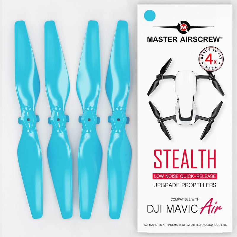 DJI Mavic Air STEALTH Upgrade Propellers - x4 Blue - Master Airscrew - Drone and Model Airplane Propellers