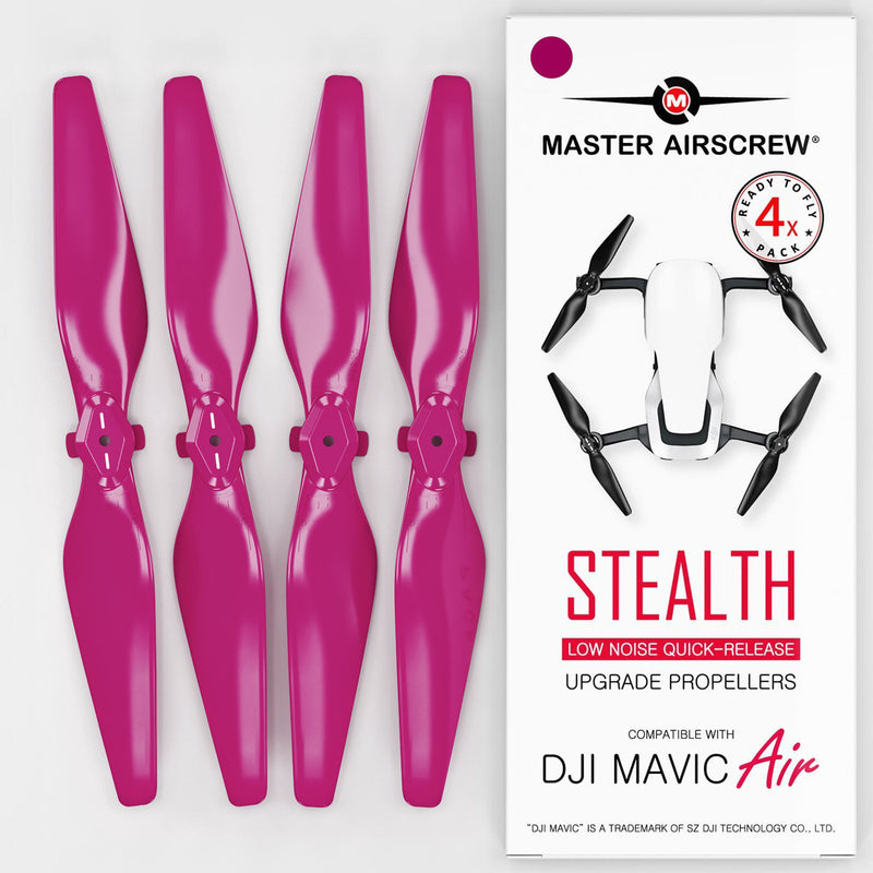 DJI Mavic Air STEALTH Upgrade Propellers - x4 Magenta - Master Airscrew - Drone and Model Airplane Propellers