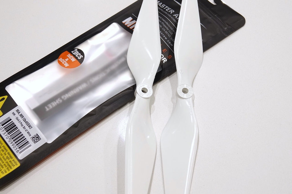 MR Series - 12x4.5 Prop Set x2 White - Master Airscrew - Multi Rotor/ Model Airplane Propellers