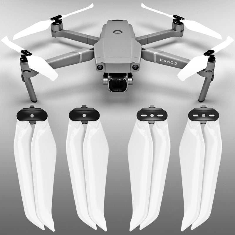 DJI Mavic 2 STEALTH Upgrade Propellers- x4 White - Master Airscrew - Multi Rotor/ Model Airplane Propellers