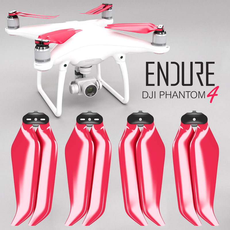 DJI Phantom 4 ENDURE Foldable Propellers - x4 Red - Master Airscrew - Drone and Model Airplane Propellers