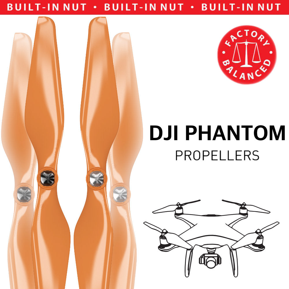 DJI Phantom Built-in Nut Upgrade Propellers - MR PH 9.4x5 Set x4 Orange - Master Airscrew - Multi Rotor/ Model Airplane Propellers